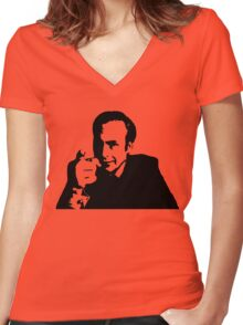 Who ya gonna call? Saul Women's Fitted V-Neck T-Shirt