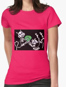 cats and dogs and bones Womens Fitted T-Shirt