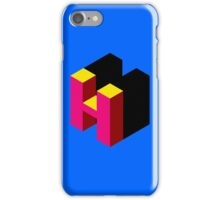 Letter H Isometric Graphic iPhone Case/Skin