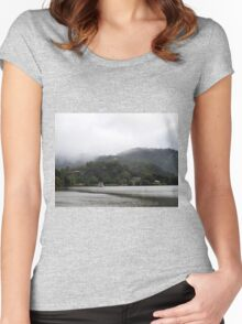 Misty Morning Women's Fitted Scoop T-Shirt