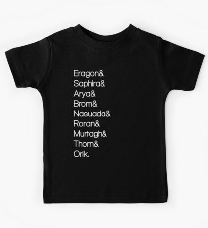 Character List Eragon Alternate Kids Tee
