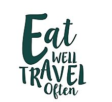 Eat Well Travel Often Quote - GREEN  Photographic Print