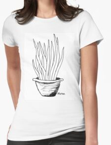 Succulent love (Mother-in-law's tongue) Womens Fitted T-Shirt