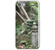 Gravestones in the Old Malay Cemetery at Kampong Glam, Singapore iPhone Case/Skin