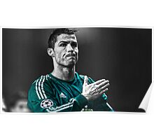Ronaldo Champions league celebration Poster