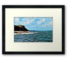 Walking on the summer beach Framed Print