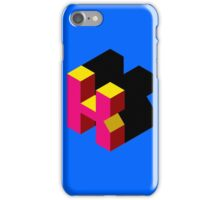 Letter K Isometric Graphic iPhone Case/Skin