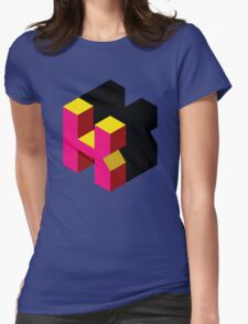 Letter K Isometric Graphic Womens Fitted T-Shirt
