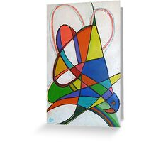 Swooping Parrot Greeting Card