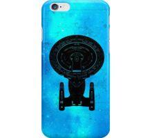 Star Trek Stencil - USS Enterprise-D iPhone Case/Skin