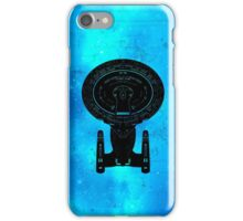 Star Trek Stencil - USS Enterprise-D iPhone Case/Skin