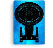Star Trek Stencil - USS Enterprise-D Canvas Print