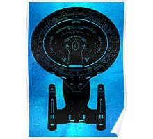 Star Trek Stencil - USS Enterprise-D Poster
