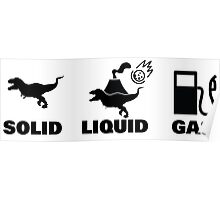 Solid, Liquid, Gas - Dinosaurs  Poster