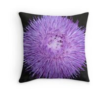 Flower with purple spiked petals Throw Pillow