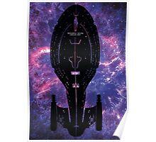 Star Trek Stencil - USS Voyager Poster