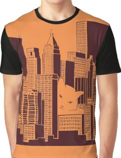 Cat in the Big City Graphic T-Shirt