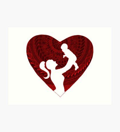 Motherhood - Heart 2 Art Print