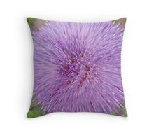 Flower with spiked petals Throw Pillow