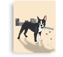 Attack of the Colossal Boston Terrier!!! Canvas Print