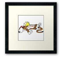 Calvin And Hobbes Sleep Framed Print