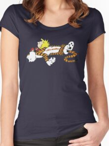 Calvin And Hobbes Sleep Women's Fitted Scoop T-Shirt