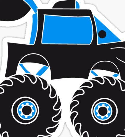 monstertruck comic eyes face cartoon cars Sticker