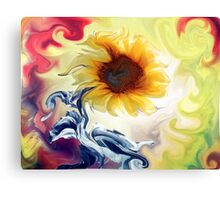 BLOOMING BRIGHT DISTORTED Canvas Print