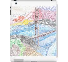 Golden Gate Bridge Zentangle iPad Case/Skin