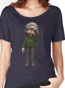 Albert Einstein Cartoon Women's Relaxed Fit T-Shirt