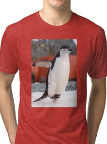 Penguin on the move Tri-blend T-Shirt