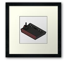 Atari 2600 Console - Isometric Framed Print