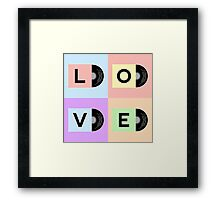 Vinyl cover with LOVE word Framed Print