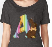 Letter A Chocolate Easter Bunny Women's Relaxed Fit T-Shirt