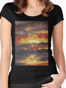 Abstract Sunset Water 1 Women's Fitted Scoop T-Shirt