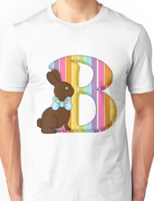 Letter B Chocolate Easter Bunny Unisex T-Shirt