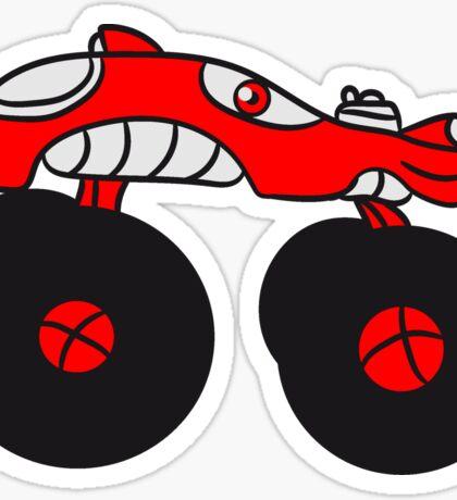 monster truck cool comic eyes face cartoon cars Sticker