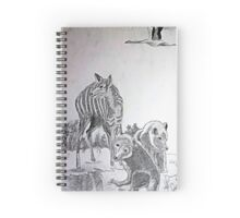 Deer Mom and the Bear Cubs Spiral Notebook