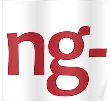 Angular.js T-shirt & Hoodie Poster