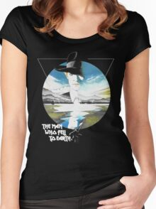 The Man Who Fell to Earth - Bowie Women's Fitted Scoop T-Shirt