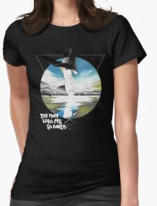 The Man Who Fell to Earth - Bowie Womens Fitted T-Shirt