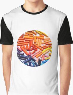 Rainbow Crayons Photo Graphic T-Shirt