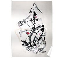 The Moving Finger - Original Wall Modern Abstract Art Painting Poster