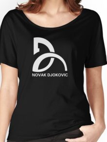 Novak Djokovic Logo Women's Relaxed Fit T-Shirt