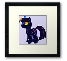 My cute pony. Little night horse. Framed Print