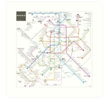 Madrid metro map Art Print