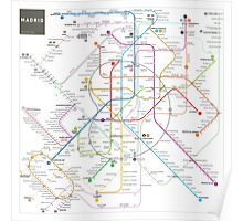 Madrid metro map Poster