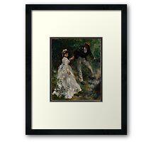 Auguste Renoir - La Promenade 1870 Woman Portrait Impressionism  Landscape Framed Print