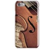 Old rare violin on note sheet iPhone Case/Skin