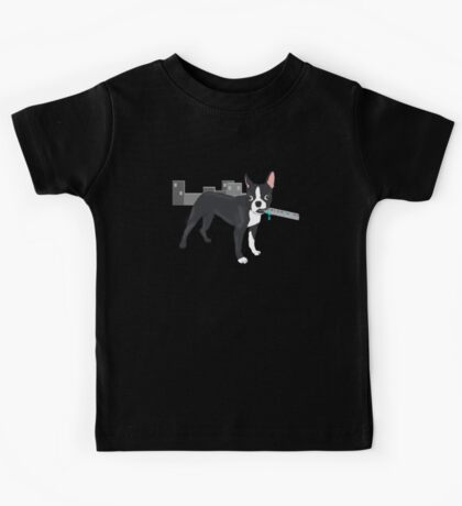 Attack of the Colossal Boston Terrier!!! Kids Tee
